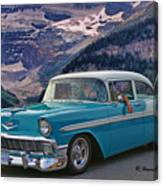 Chevy At Lake Louise Canvas Print