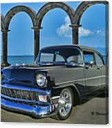 Chevy Belair In Mexico Canvas Print