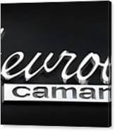 Chevy Camaro Emblem Canvas Print
