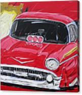 Chevy Drag Canvas Print