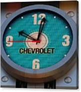 Chevy Neon Clock Canvas Print