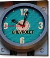 Chevy Neon Clock Canvas Print