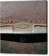 Chevy Power Glide Trunk Emblem Canvas Print
