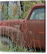 Chevy Truck Rusting Along Road Canvas Print