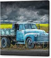 Chevy Truck Stranded By The Side Of The Road Canvas Print