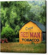 Chew Red Man Canvas Print