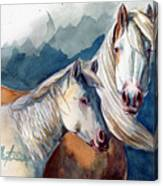 Cheyenne And Tripod Canvas Print