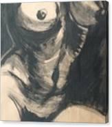 Chiaroscuro Torso - Female Nude Canvas Print