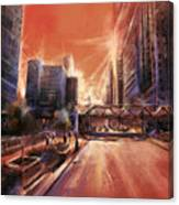 Chicaco Street 3 Canvas Print