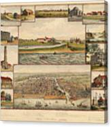 Chicago 1779-1857 Canvas Print