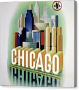 Chicago American Airlines 1950 Canvas Print