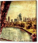 Chicago Approaching The City In June Textured Canvas Print