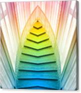 Chicago Art Institute Staircase Pa Prism Mirror Image Vertical 02 Canvas Print