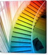 Chicago Art Institute Staircase Pa Prismatic Vertical 02 Canvas Print