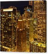 Chicago At Night Canvas Print