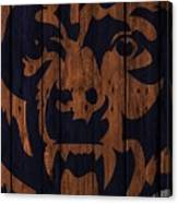 Chicago Bears Wood Fence Canvas Print