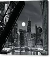Chicago Black And White Nights Canvas Print