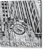 Chicago Board Of Trade Bw Canvas Print