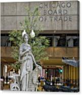 Chicago Board Of Trade Signage Canvas Print