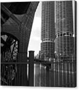 Chicago Bridge And Buildings Canvas Print