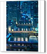 Chicago Bridges Poster Canvas Print