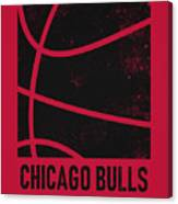 Chicago Bulls City Poster Art 2 Canvas Print