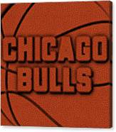 Chicago Bulls Leather Art Canvas Print