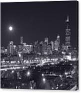 Chicago By Night Canvas Print