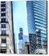 Chicago Concrete Canyons Canvas Print