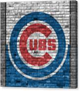 Chicago Cubs Brick Wall Canvas Print