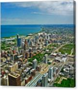 Chicago East View Canvas Print