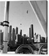 Chicago Ferris Wheel Skyline Canvas Print