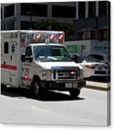 Chicago Fire Department Ems Ambulance 35 Canvas Print