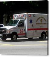Chicago Fire Department Ems Ambulance 62 Canvas Print