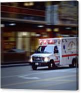 Chicago Fire Department Ems Ambulance 74 Canvas Print