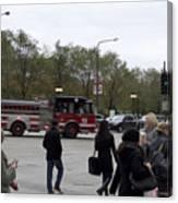 Chicago Fire Department Truck 13 Canvas Print