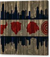 Chicago Flag Barn Door Canvas Print