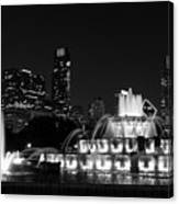 Chicago Grant Park Grayscale Canvas Print