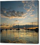 Chicago Harbor Sunrise Canvas Print
