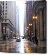 Chicago In The Rain Canvas Print