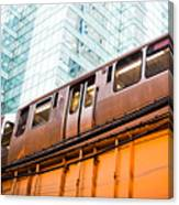 Chicago L Elevated Train  Canvas Print