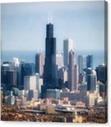 Chicago Looking East 02 Canvas Print