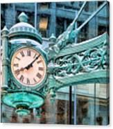 Chicago Marshall Field State Street Clock Canvas Print