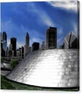 Chicago Millennium Park Bp Bridge Pa 01 Canvas Print