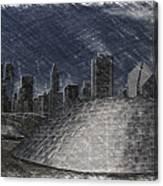 Chicago Millennium Park Bp Bridge Pa 02 Canvas Print