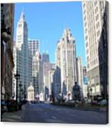 Chicago Miracle Mile Canvas Print