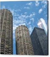 Chicago On A Bright Blue Day Canvas Print