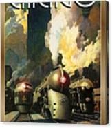 Chicago Railway, Steam Trains Canvas Print
