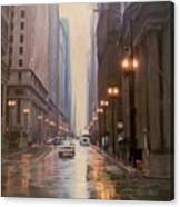 Chicago Rainy Street Canvas Print