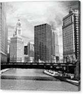 Chicago River Buildings Skyline Canvas Print